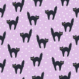 Seamless Halloween pattern. For Halloween day Stock Photography