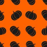 Seamless halloween pattern with pumkin. Endless background texture for 31 october. Abstract autumn natural tiling. Seamless halloween pattern with pumpkin Stock Images