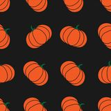 Seamless halloween pattern with pumkin. Endless background texture for 31 october. Abstract autumn natural tiling. Seamless halloween pattern with pumpkin Stock Photography