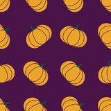 Seamless halloween pattern with pumkin. Endless background texture for 31 october. Abstract autumn natural tiling. Seamless halloween pattern with pumpkin Stock Photos