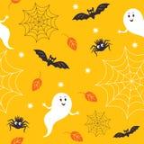 Seamless halloween pattern vector illustration