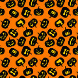 Seamless Halloween pattern Stock Image