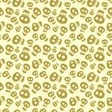 Seamless halloween pattern with skulls Stock Photography