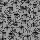 Seamless halloween pattern with spiderweb in Stock Images