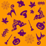 Seamless halloween pattern.Vector illustration. Seamless halloween pattern. Vector illustration Stock Photos
