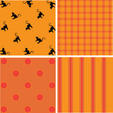 Seamless Halloween Patterns Stock Images