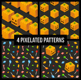 Seamless Halloween Patterns Stock Photos