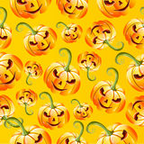 Seamless halloween pumkins pattern Royalty Free Stock Photo