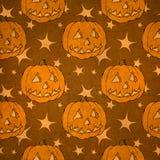 seamless halloween pumpa royaltyfri illustrationer