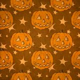 Seamless halloween pumpkin Royalty Free Stock Image