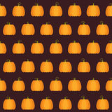 Seamless Halloween Pumpkin pattern Royalty Free Stock Photos