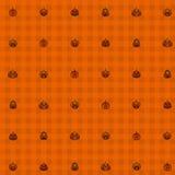 Seamless Halloween pumpkins background - 3D render Stock Photos