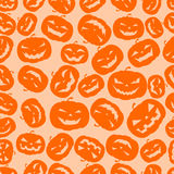 Seamless Halloween pumpkins background Stock Photography
