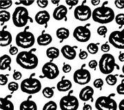 Seamless Halloween pumpkins background Stock Photo