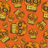Seamless halloween skull. A seamless vector pattern with halloween skull stock illustration