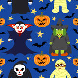 Seamless halloween vector background Royalty Free Stock Photography
