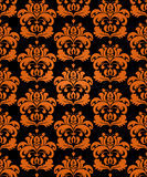 Seamless haloween background. Seamless damask background with halloween main colors Royalty Free Stock Photos