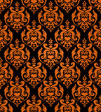Seamless haloween background. Seamless damask background with halloween main colors Stock Photos