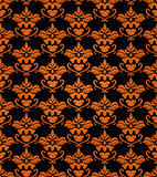 Seamless haloween background. Seamless damask background with halloween main colors Stock Image