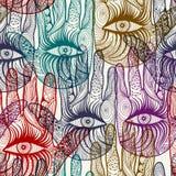 Seamless hand background pattern. EPS 10 Stock Image