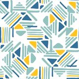 Seamless hand draw Folk pattern. weave lines ornament. Abstract Seamless hand draw Folk pattern on white background. Weave lines ornament. Backdrop for textile royalty free illustration