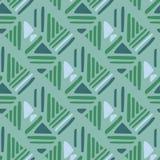 Seamless hand draw Folk pattern. weave lines ornament royalty free illustration