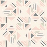 Seamless hand draw Folk pattern. weave lines ornament. Weave lines ornament. Folk seamless pattern on pink background. Backdrop for textile or book covers royalty free illustration