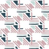 Seamless hand draw Folk pattern. weave lines ornament. Seamless hand draw Folk pattern on white background. Weave lines ornament. Backdrop for textile or book royalty free illustration