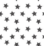 Seamless hand drawing star pattern Stock Images