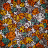 Seamless hand-drawn abstract pattern. Endless texture in warm co Stock Photography