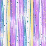 Seamless hand drawn abstract striped pattern Royalty Free Stock Photos