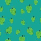 Seamless hand-drawn apples Royalty Free Stock Photos