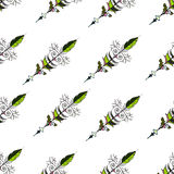 Seamless hand drawn background pattern with arrows. Vector Royalty Free Stock Photo