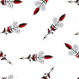 Seamless hand drawn background pattern with arrows. Vector Royalty Free Stock Photography