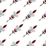 Seamless hand drawn background pattern with arrows. Vector Royalty Free Stock Image
