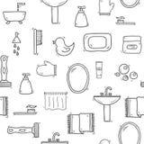 Seamless hand drawn bathroom background Royalty Free Stock Image