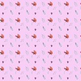 Seamless hand drawn watercolor floral pattern stock illustration