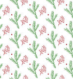 Seamless hand-drawn Christmas and New Year pattern.Vector abstract Hand drawn background for design and decoration Stock Photo