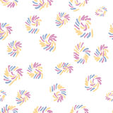 Seamless hand drawn circle seamless pattern in retro style, memphis. Can be used for fabric design, paper print and website backdrop, sportswear. EPS10 Royalty Free Stock Image