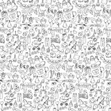Seamless hand drawn doodle baby pattern. Vector illustration for backgrounds, web design, design elements, textile prints, covers, wrapping, wallpapers Stock Images