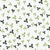 Seamless hand-drawn doodle floral pattern Stock Photography
