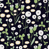 Seamless hand-drawn doodle floral pattern Royalty Free Stock Photography