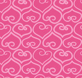 Seamless hand-drawn doodle heart background Royalty Free Stock Image