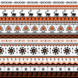 Seamless hand-drawn ethnic pattern of South America. Tribal seamless geometric striped background. It can be used for wallpaper, w Stock Photography
