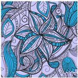 Seamless hand drawn  floral pattern Royalty Free Stock Photos
