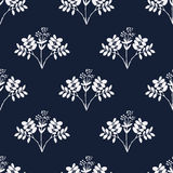 Seamless hand-drawn floral pattern with herbs Stock Photography