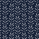 Seamless hand-drawn floral pattern with herbs Stock Image