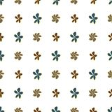 Seamless hand drawn flower illustrations background, good for graphic design, wallpapers or booklets. Cartoon style vector graphic Royalty Free Illustration