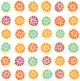 Seamless hand-drawn flower pattern Stock Photo