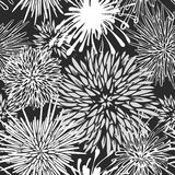 Seamless hand-drawn flower pattern Royalty Free Stock Photo
